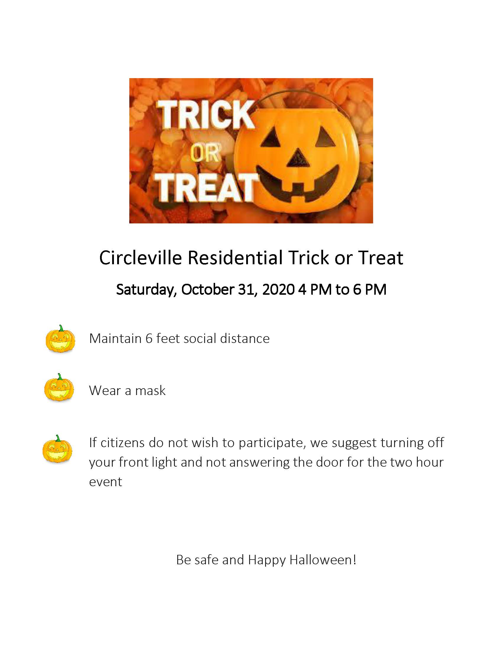 2020 Circleville Trick or Treat