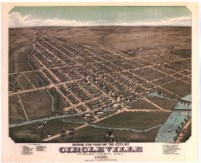 Sketch of Circleville from 1876.