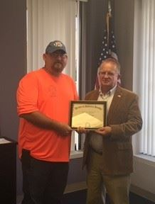 Chris Cupp, Service Dept., 20 years of service